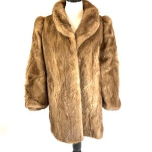 Hudson's Blonde Mink Fur Coat